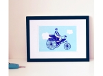 Linogravure tricycle