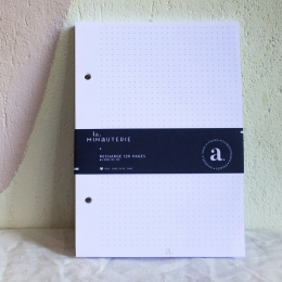 Recharge carnet : papier à points